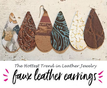 Leather Earring Jewelry Collection