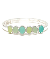 MULTI SEAGLASS STRETCH BRACELET