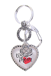 RELIGIOUS INSPIRATION CABOCHON CHARM KEY CHAIN - LOVE YOU MOM