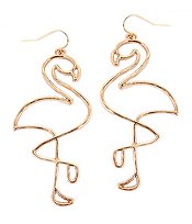 WIRE FLAMINGO EARRING