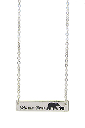 INSPIRATION MESSAGE PENDANT NECKLACE - MAMA BEAR