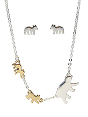 MAMA BEAR INSPIRATION NECKLACE SET