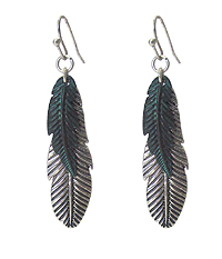 DOUBLE FEATHER DROP EARRING