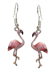 EPOXY FLAMINGO EARRING