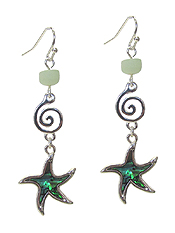 SEA LIFE THEME ABALONE EARRING - STARFISH