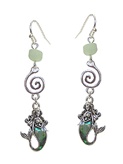 SEA LIFE THEME ABALONE EARRING - MERMAID