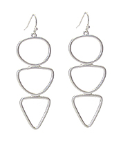 MULTI SHAPE LINK DROP EARRING