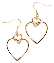 DOUBLE HEART LINK EARRING