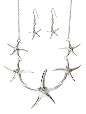 MULTI STARFISH LINK NECKLACE SET