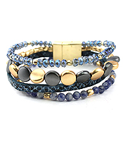 MULTI LAYER BEAD MIX MAGNETIC BRACELET
