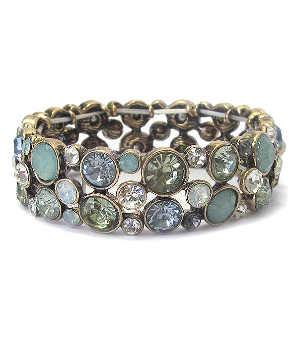 MULTI CRYSTAL BUBBLE STRETCH BRACELET