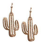SCRATCH METAL CACTUS EARRING