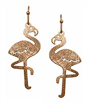 SCRATCH METAL FLAMINGO EARRING