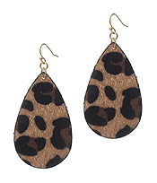 TEARDROP EARRING - ANIMAL PRINT