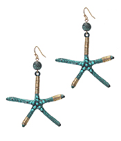 WIRE WRAP STARFISH EARRING