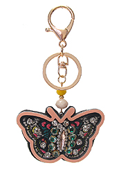 MULTI STONE MIX KEY CHAIN - BUTTERFLY