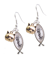 PET LOVERS INSPIRATION CABOCHON EARRING - CAT MOM