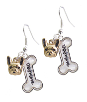 PET LOVERS INSPIRATION CABOCHON EARRING - DOG MOM