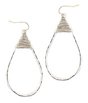 WIRE WRAP TEARDROP EARRING