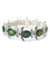 MULTI SEA TURTLE STRETCH BRACELET
