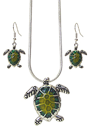 SEALIFE THEME NECKLACE SET - TURTLE