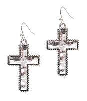 METAL CROSS EARRING