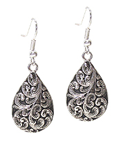 DESIGNER TEXTURED TEARDROP EARRING