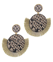 ANIMAL PRINT TASSEL EARRING