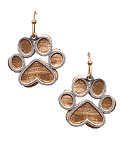 PET LOVERS INSPIRATION PAW EARRING