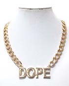 PREMIER ELECTRO PLATING DOPE PENDANT AND THICK CHAIN NECKLACE