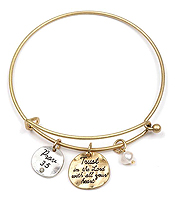 RELIGIOUS INSPIRATION ALEX AND ANI STYLE WIRE BANGLE BRACELET - PROV 3:5