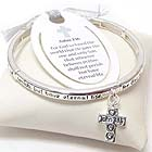 RELIGIOUS INSPIRATION MESSAGE CHARM STRETCH BRACELET - JOHN 3:16