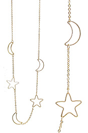 STAR AND MOON LINK NECKLACE