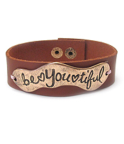 INSPIRATION LEATHER BAND BRACELET - BE YOU TIFUL
