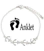 SEALIFE THEME ANKLET - ANCHOR