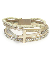MULTI LAYER CROSS MAGNETIC BRACELET