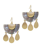 ABALONE AND TEARDROP EARRING