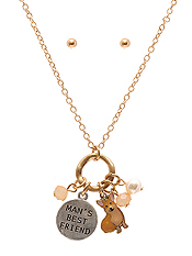 DOG LOVERS MULTI CHARM NECKLACE SET