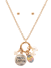 EASTER THEME MULTI CHARM NECKLACE SET