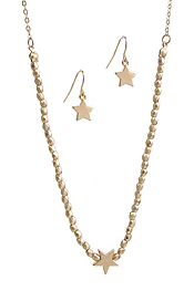 ETSY STYLE MULTI METAL BEAD NECKLACE SET - STAR