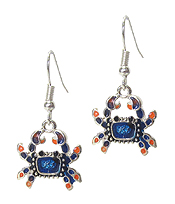 SEALIFE THEME EARRING - CRAB