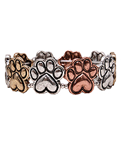 PET LOVERS INSPIRATION PAW PRINT STRETCH BRACELET