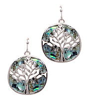 ABALONE DISC TREE OF LIFE EARRING