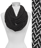 CHEVRON LACE INFINITY SCARF - 100% VISCOSE