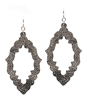 LEATHERETTE OPEN CUT EARRING