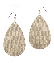 FABRIC TEARDROP EARRING