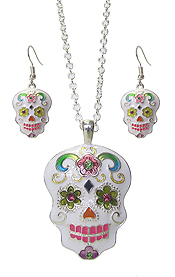 SUGAR SKULL NECKLACE SET