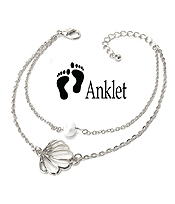 SEALIFE THEME ANKLET - SHELL