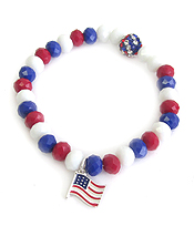 AMERICAN FLAG STRETCH BRACELET