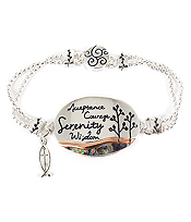 RELIGIOUS INSPIRATION MAGNETIC BRACELET - ACCEPTANCE COURAGE SERENITY WISDOM